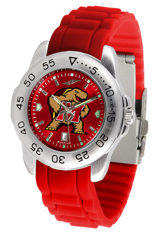 Maryland Terrapins Sport AnoChrome Watch With Color Band