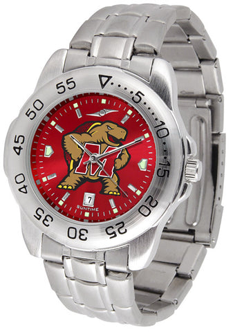 Maryland Terrapins Men Sport Steel Watch With AnoChrome Dial