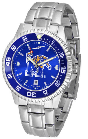 Mens Memphis Tigers - Competitor Steel AnoChrome Watch - Color Bezel