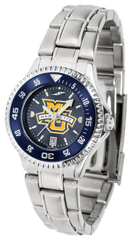 Ladies Marquette Golden Eagles - Competitor Steel AnoChrome Watch - Color Bezel