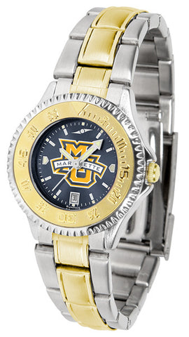 Ladies Marquette Golden Eagles - Competitor Two Tone AnoChrome Watch