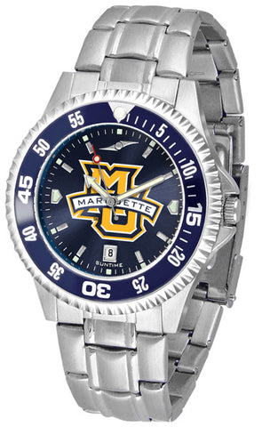 Mens Marquette Golden Eagles - Competitor Steel AnoChrome Watch - Color Bezel