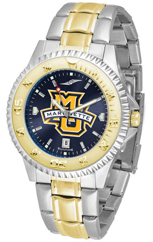 Mens Marquette Golden Eagles - Competitor Two Tone AnoChrome Watch