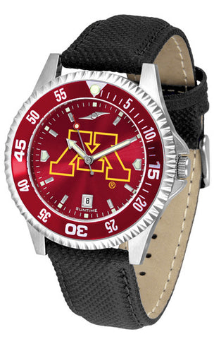 Mens Minnesota Gophers - Competitor AnoChrome Watch - Color Bezel