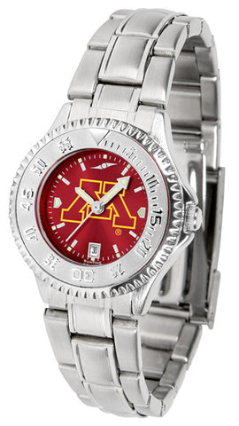 Ladies Minnesota Gophers - Competitor Steel AnoChrome Watch