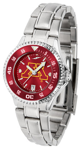 Ladies Minnesota Gophers - Competitor Steel AnoChrome Watch - Color Bezel