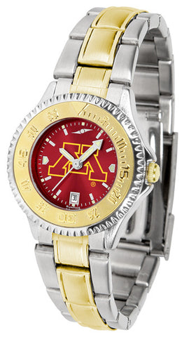 Ladies Minnesota Gophers - Competitor Two Tone AnoChrome Watch