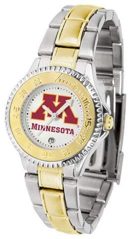 Ladies Minnesota Gophers - Competitor Two Tone Watch