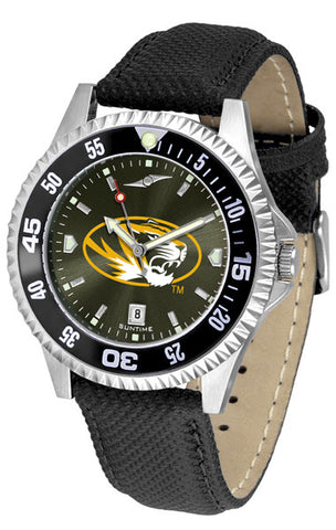 Missouri Tigers Men Competitor Watch With AnoChome Dial, Color Bezel