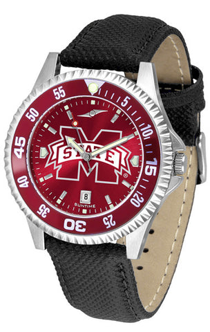 Mississippi State Bulldogs Men Competitor Watch With AnoChome Dial, Color Bezel