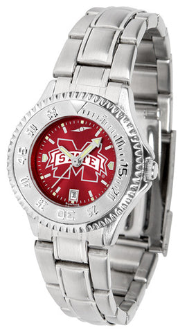 Mississippi State Bulldogs Ladies Competitor Steel Watch With AnoChome Dial