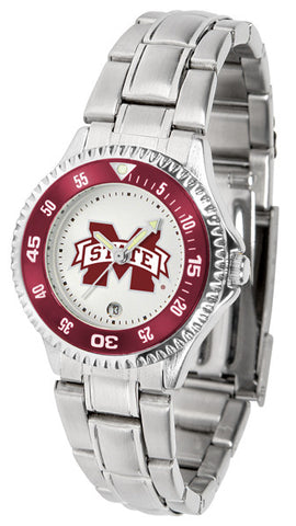 Mississippi State Bulldogs Competitor Steel Ladies Watch