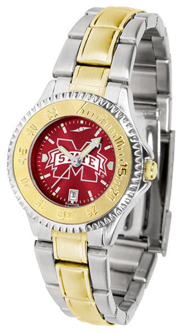 Mississippi State Bulldogs Ladies Competitor Two-Tone Watch With Anochrome Dial
