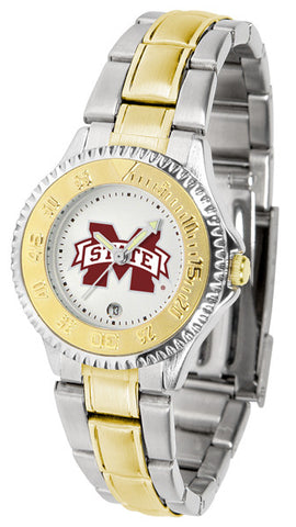 Mississippi State Bulldogs Ladies Competitor Two-Tone Watch