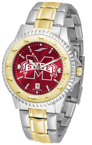 Mississippi State Bulldogs Mens Competitor Two-Tone Watch With Anochrome Dial