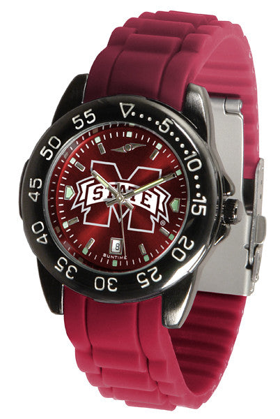 Mississippi State Bulldogs Fantom Sport AC Watch With Color Band