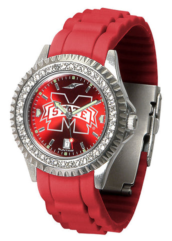 Mississippi State Bulldogs Sparkle Watch With Color Band