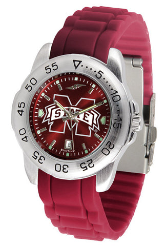 Mississippi State Bulldogs Sport AnoChrome Watch With Color Band