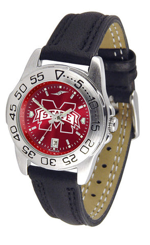 Mississippi State Bulldogs Ladies Sport Watch With Leather Band & AnoChrome Dial
