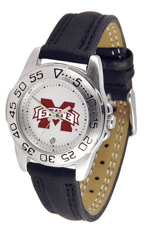 Mississippi State Bulldogs Ladies Sport Watch With Leather Band