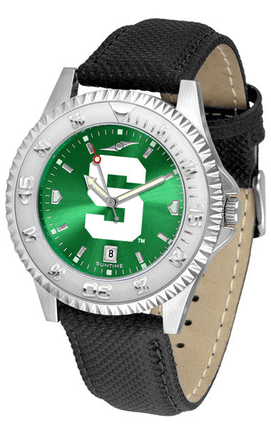 Michigan State Spartans Men  Competitor Watch With AnoChome Dial