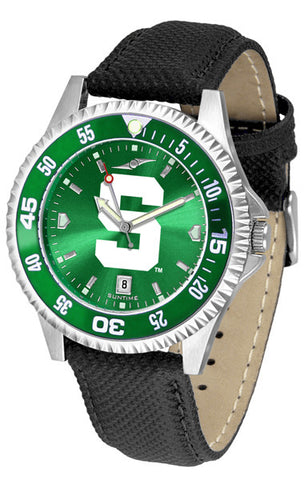 Michigan State Spartans Men Competitor Watch With AnoChome Dial, Color Bezel