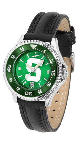 Michigan State Spartans Ladies Competitor Watch With AnoChome Dial, Color Bezel