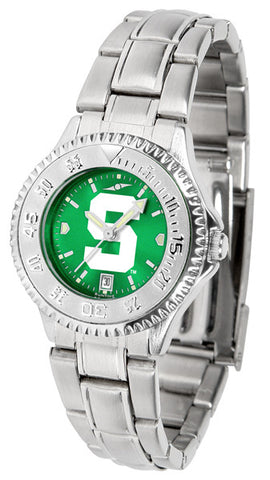Michigan State Spartans Ladies Competitor Steel Watch With AnoChome Dial
