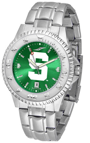 Michigan State Spartans Men's Competitor Steel Watch With AnoChome Dial