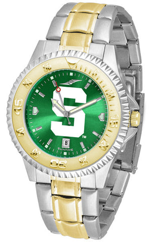 Michigan State Spartans Men Competitor Two-Tone Watch With Anochrome Dial