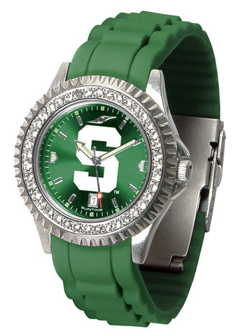 Michigan State Spartans Sparkle Watch With Color Band
