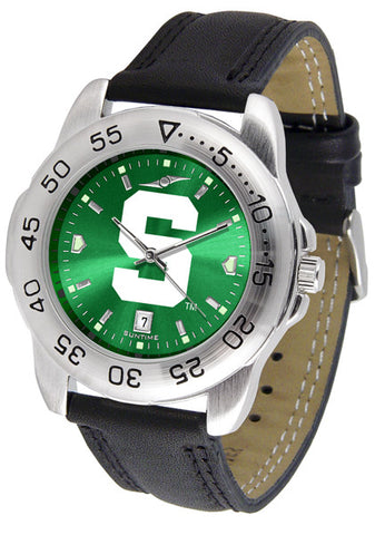 Michigan State Spartans Men Sport Watch With Leather Band & AnoChrome Dial