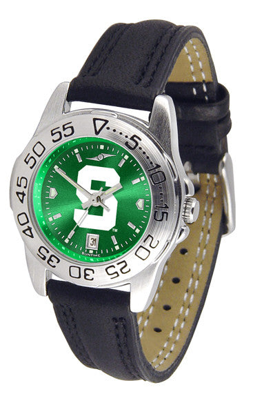 Michigan State Spartans Ladies Sport Watch With Leather Band & AnoChrome Dial