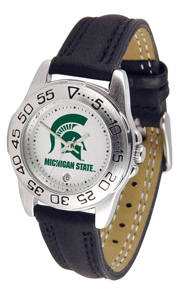 Michigan State Spartans Ladies Sport Watch With Leather Band