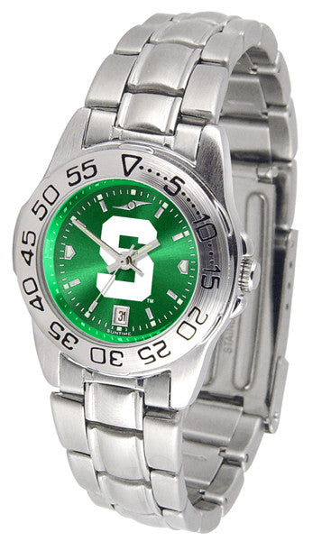 Michigan State Spartans Ladies Sport Steel Watch With AnoChrome Dial