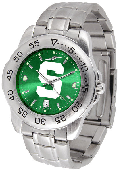 Michigan State Spartans Men Sport Steel Watch With AnoChrome Dial