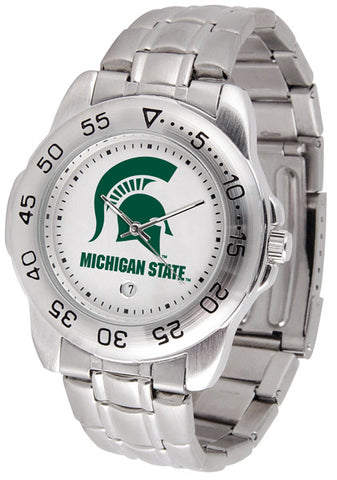 Michigan State Spartans Men Sport Steel Watch