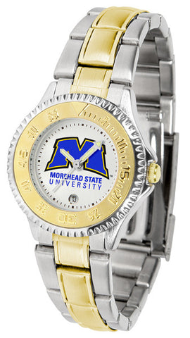 Ladies Morehead State University Eagles - Competitor Two Tone Watch