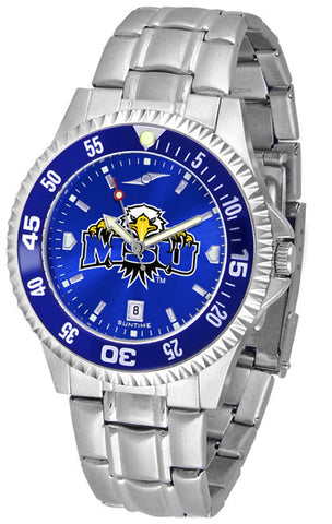 Mens Morehead State University Eagles - Competitor Steel AnoChrome Watch - Color Bezel