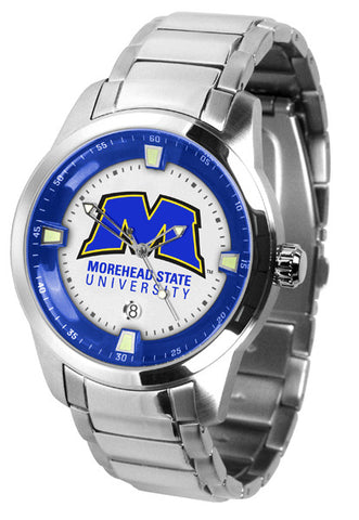 Mens Morehead State University Eagles - Titan Steel Watch