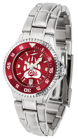 Ladies Montana Grizzlies - Competitor Steel AnoChrome Watch - Color Bezel