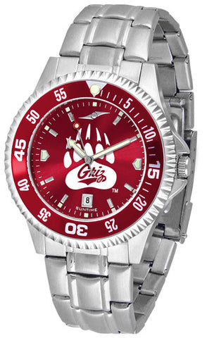 Mens Montana Grizzlies - Competitor Steel AnoChrome Watch - Color Bezel