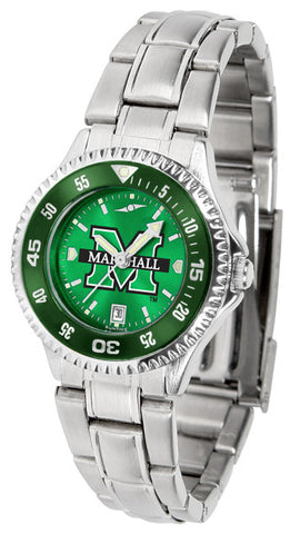 Ladies Marshall University Thundering Herd - Competitor Steel AnoChrome Watch - Color Bezel