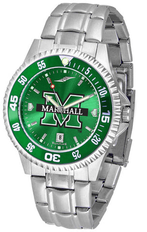 Mens Marshall University Thundering Herd - Competitor Steel AnoChrome Watch - Color Bezel