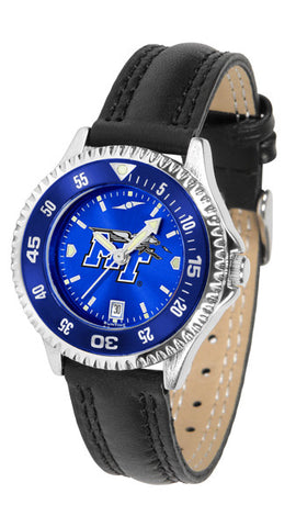 Ladies Middle Tenn. State Blue Raiders - Competitor AnoChrome Watch - Color Bezel