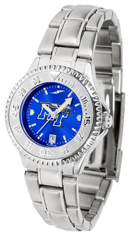 Ladies Middle Tenn. State Blue Raiders - Competitor Steel AnoChrome Watch