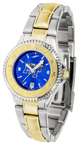 Ladies Middle Tenn. State Blue Raiders - Competitor Two Tone AnoChrome Watch