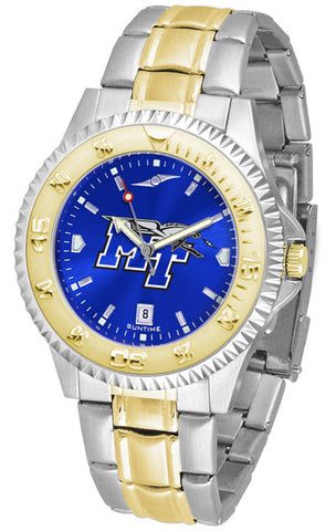 Mens Middle Tenn. State Blue Raiders - Competitor Two Tone AnoChrome Watch