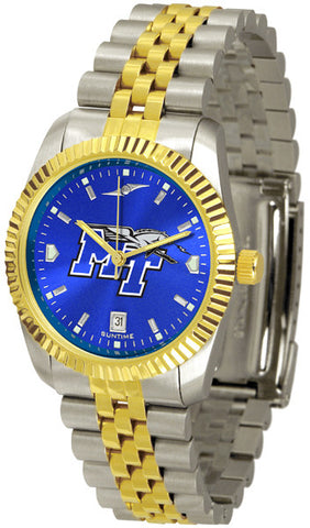 Mens Middle Tenn. State Blue Raiders - Executive AnoChrome Watch