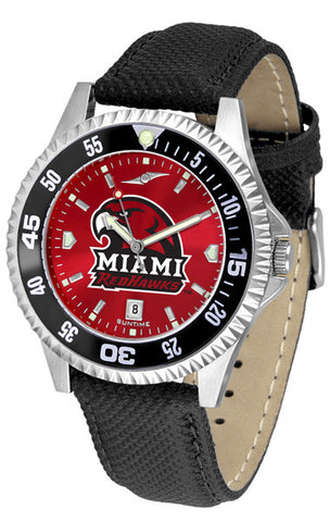 Mens Miami Univ. Redhawks - Competitor AnoChrome Watch - Color Bezel